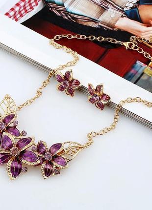 Комплект бижутерии: ожерелье и серьги