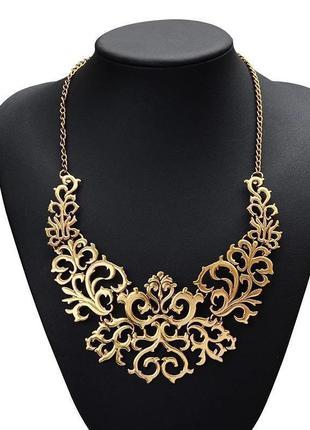 Ожерелье золотистое ажурное