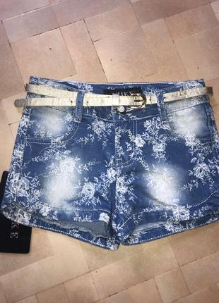 Джинсовые шорты на девочку Yuke 122-164р