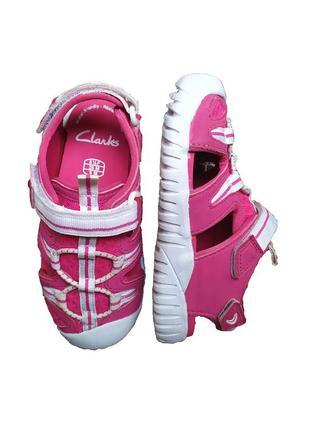 Розовые сандалии босоножки clarks 26 размер