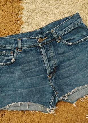 Фирменные шорты с высокой посадкой divided, размер с-м (можно ...