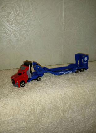 Машинка автовоз Оптимус Прайм Трансформеры Majorette Diskie Toys