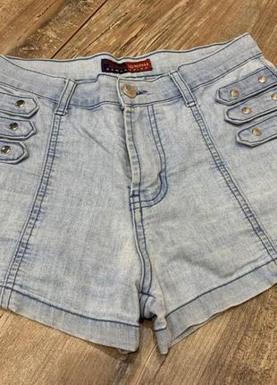 Шорты джинсовые женские летние высокая посадка