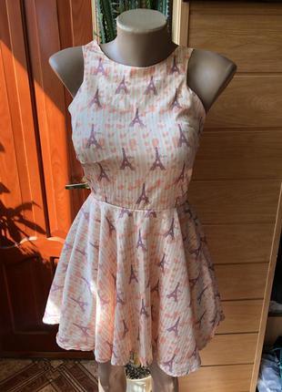 Шикарное воздушное платье с пуш ап