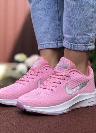 Красивые кроссовки женские nike flyknit lunar 3 розовые