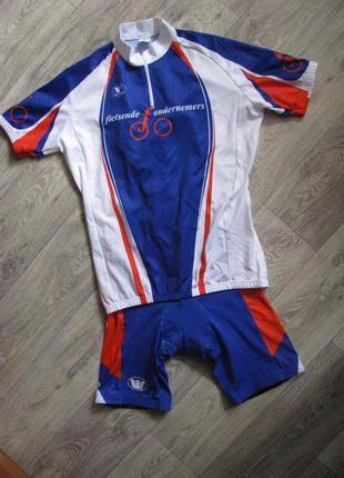 Велокостюм велошорты l размер 48-50 велофутболка велокомбинезо...