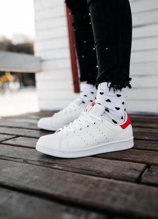 Кроссовки  adidas stan smith «white/red»