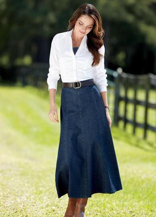 Длинная,джинсовая,серая юбка
