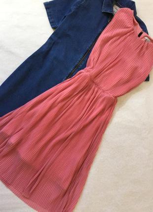 Платье шифоновое плиссе h&m размер s