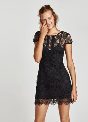 Очень красивое кружевное черное платье