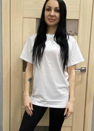 Женская футболка белая для спорта и повседневной носки , хлопо...