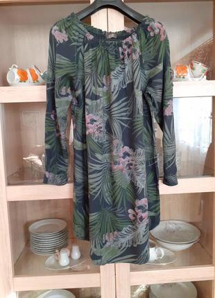 Потрясающее натуральное платье туника большого размера италия