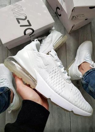 Кроссовки мужские nike air max 270 flyknit white 🌶