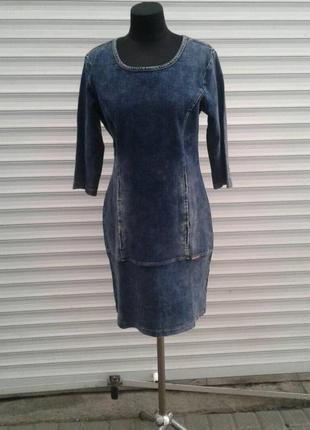 Плаття джинс просте