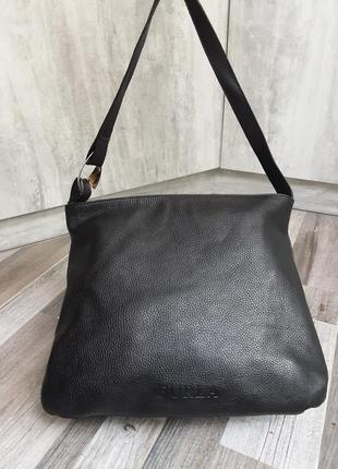 Шикарная кожаная сумка furla