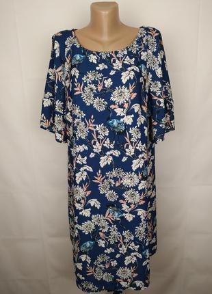 Платье стильное в принт большого размера george uk 18/46/xxl
