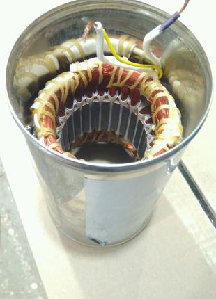 Насос водолей, статор двигателя