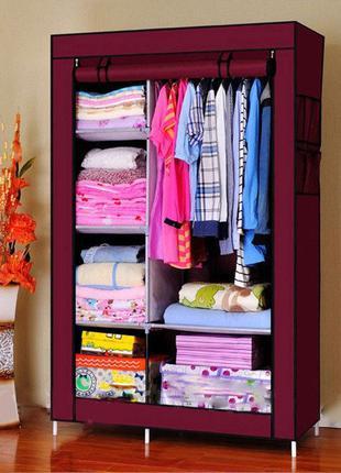 Тканевый шкаф, органайзер Storage Wardrobe на 2 секции 105*45*...
