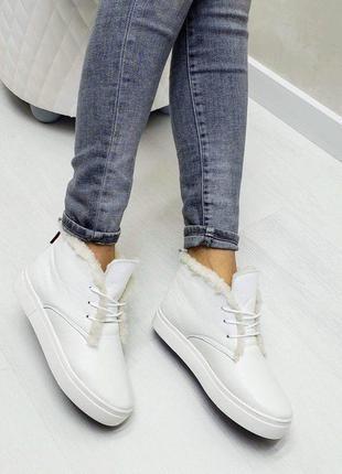 🔥 высокие кеды хайтопы р32-41 белые зимние ботинки сапоги хайт...