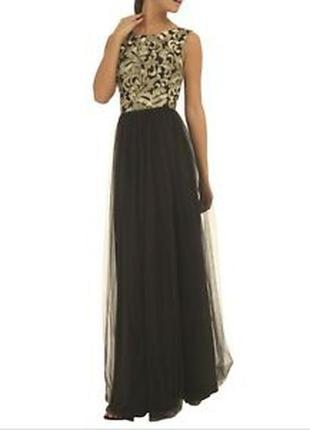 Платье вечернее на выпускной фатин и вышивка chi chi london ра...