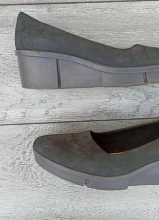 Clarks женские туфли кожа нубук оригинал лето осень
