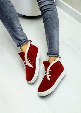 🔥 высокие кеды хайтопы р32-41 зимние осенние красные ботинки с...