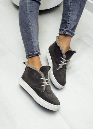 🔥 высокие кеды хайтопы р32-41 зимние осенние серые ботинки сап...