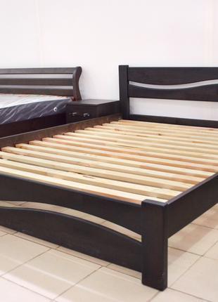 Кровать Деревянная Волна 160х200см. Массив Сосны Двуспальная