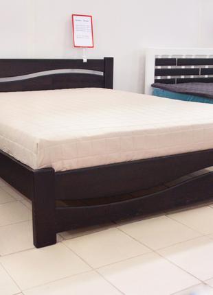 Кровать Деревянная Волна 180х200см. Массив Сосны Двуспальная