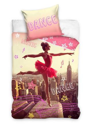 Детское постельное белье евро комплект балерина 140х200 - сери...
