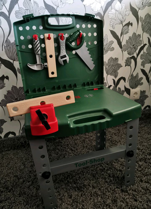Столярный набор стол Bosch верстак игровой детский мастерская
