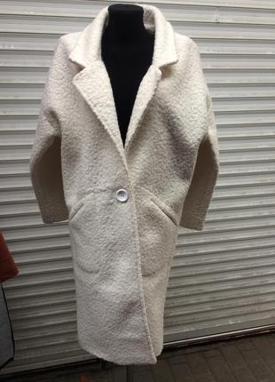Круте шерстяне пальто на високий ріст