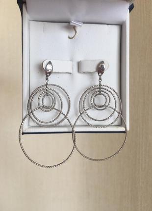 Комплект-браслет и серьги из серебра 925 пробы
