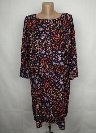 Платье стильное натуральное в цветы большого размера george uk...