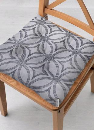 Подушка на стул из грязеотталкивающей ткани