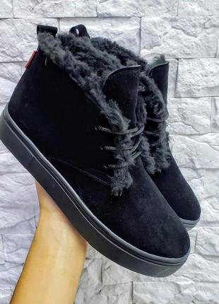 🔥 высокие кеды хайтопы р32-41 черные зимние осенние ботинки са...