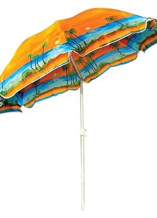 Пляжный зонт с клапаном 220мм.