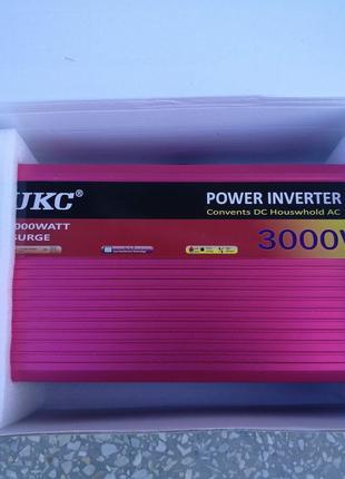 Преобразователь инвертор UKC 12V-220V 3000W (4000W)