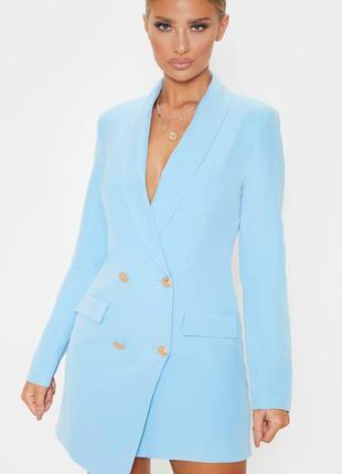 Платье піджак небесного голубого цвета ( baby blue) не золотис...
