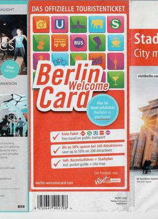 Туристическая карта Берлина + Потсдам (Германия)
