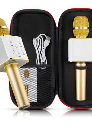 Беспроводной Портативный Bluetooth микрофон-караоке Q7 Золото