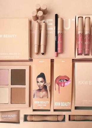 Большой профессиональный набор косметики KKW Beauty 7в1