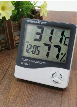 Метеостанция HTC-1 Htc 2 Часы Будильник  Гигрометр (влагомер)