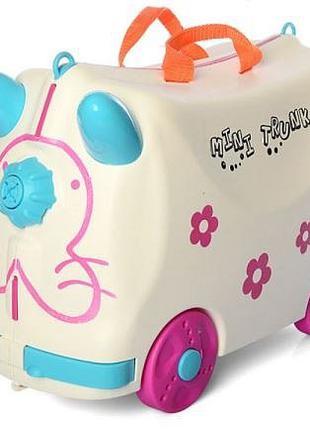 Детский чемодан толокар каталка Ride n Roll белый