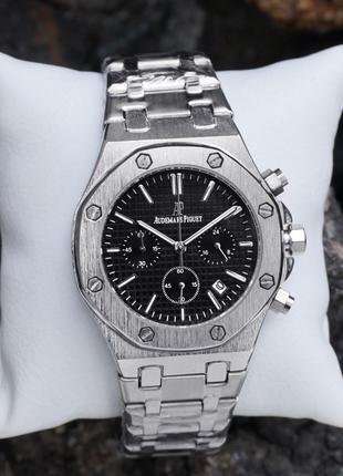 Мужские наручные часы Audemars Piguet Royal Chronograph Silver