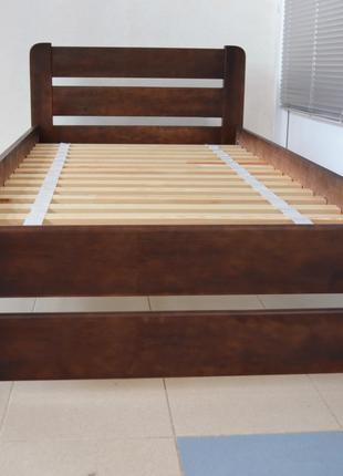 Кровать Односпальная Деревянная 90х200 Рич. Массив Сосны Одесса