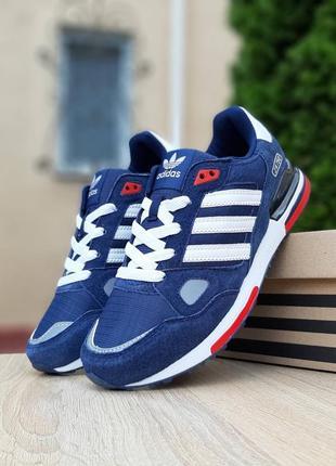 Крутые мужские кроссовки adidas zx 750 синие