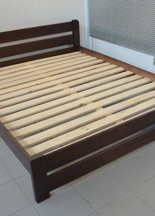 Кровать Деревянная Рич 140х200см. Двуспальная Кровать из Сосны