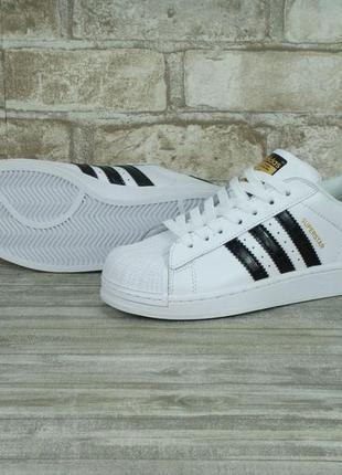 Белые adidas superstar. женские кроссовки adidas. классические...
