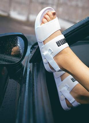 Женские босоножки puma ◈ сандали белого цвета ◈ лето 😍